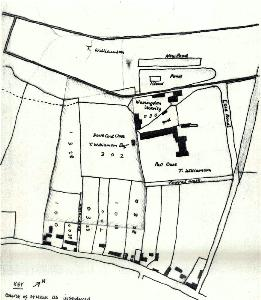 The area of Workhouse Field in 1760 [R1-42]